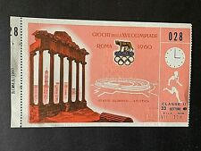 1960 Rome Olympic Games Ticket for Athletics