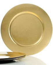 SET OF 4 CHARTER CLUB GRAND BUFFET CHARGERS GOLD NEW BOX