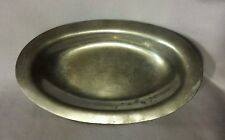 "Paul Revere Solid Pewter 12"" Oval Serving Tray"