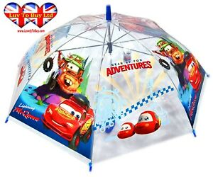 Official Disney Pixar Cars Transparent Umbrella,kids Children's Umbrell