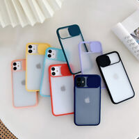 Slide Camera Protection Clear Case Cover For iPhone 12 Pro Max Mini 11 XS XR 7 8