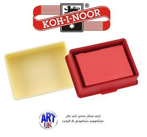 Koh-I-Noor Artists RED KNEADABLE PUTTY RUBBER Eraser for Pencil Charcoal Pastel