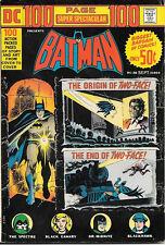 DC Comics 100 Page Super Spectacular Comic Book #20 Batman 1973 FINE+