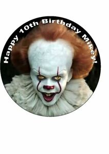 7.5 IT PENNYWISE THE CLOWN HORROR EDIBLE ICING CAKE TOPPER