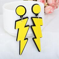 Cute Lightning Shaped Acrylic Drop Earrings For Women Fashion Jewelry Gift