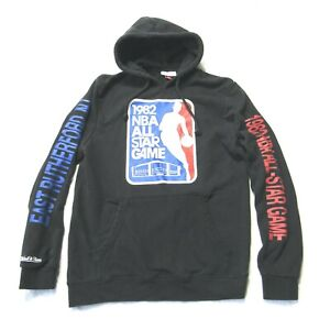 Mitchell & Ness Men's 1982 NBA All Star Game Black Hoodie Sweatshirt Sz Large