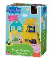 Peppa Pig deluxe playhouse  Play house with Peppa Figure accessories Age 3+, NEW