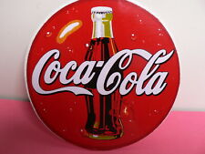 New 110mm Circular Round Coca Cola Sticker Free Post!