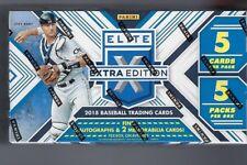 2018 Panini Elite Extra Edition Baseball Hobby Box 8 auto-2 memorabilia