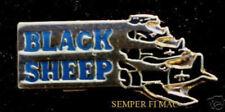VMF-214 BLACKSHEEP Boyington US MARINES HAT PIN VMA WW 2 MCAS PILOT MAW WING WOW