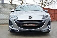 Cup Spoilerlippe Tie Bars für Mazda 3 MK2 Sport Bj.09-11 Front Schwert Diffusor