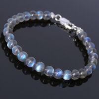 Men's Women Labradorite Sterling Silver Bracelet Strong Flash Rare Gemstone 245