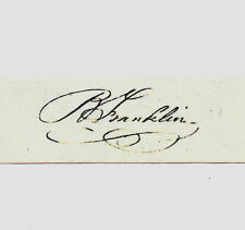 Benjamin Franklin Autograph Reprint On Genuine Original Period 1780s Paper