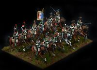 French Napoleonic Chasseurs a Cheval  Painted Perry 28mm Hard plastic