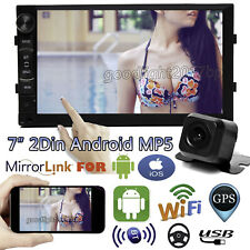 Andriod 7 Inch Double 2Din Car Stereo GPS Audio MP5 Backup Camera Mirror For IOS