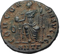 VALENTINIAN II 378AD Antioch Authentic Ancient Roman Coin Rome as Roma i67190