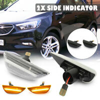 LED Side Wing Indicator Repeater Light For Opel Vauxhall Mokka X Chevrolet Trax