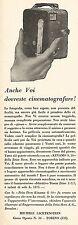 W2060 Cinematografo ZEISS IKON Kinamo S. 10 - Pubblicità del 1929 - Vintage ad