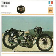 SCHEDA MOTO MOTORBIKE CARD - TERROT HCP 350 - 1936