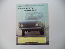 advertising Pubblicità 1984 RANGE ROVER TD TURBODIESEL
