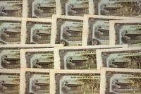 UN BILLETE NORTE VIETNAM 10 DONG BONITO PAGODA DE P86 1980 ver scan alto def