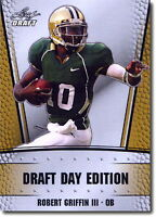 "ROBERT GRIFFIN III ""RG3"" 2012 LEAF DRAFT LIMITED ""GOLD"" PROMO ROOKIE CARD!"