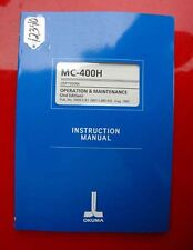 Okuma MC-400H Operation & Maintenance Manual:  3909-E-R1 (Inv.12340)