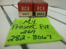 RCA Electron Tube 6AC7 New Old Stock Antique Radio Tested Set of 2 ~ Ships FREE!