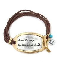 I Am The Way The Truth And The Life John 14:6 Scripture Tribal Bracelet FAST USA