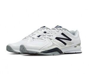 New Balance Mens MX1267 Training Shoe White,Grey, Navy. Size 7 2E Wide