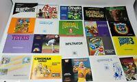 Lot Of 20 Nintendo NES Instruction Manuals, Caveman Games, Super Mario 3, Tetris