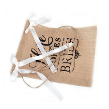 New Here Comes the Bride Banner Burlap Sign Bunting Wedding Ceremony Party Decor