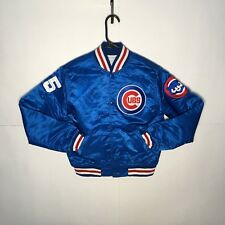 Vintage CUBS STARTER Diamond Collection Satin Jacket YOUTH MEDIUM