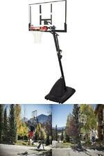 Basketball Hoop Portable Adjustable Polycarbonate Backboard Adjustable Outdoor