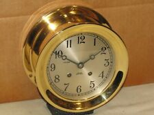 """New listing Chelsea Vintage Ships Bell Clock~6""""Dial~1967~Re stored"""
