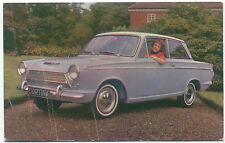 Ford Consul Cortina Super De Luxe original Postcard 1963 Creased