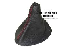 For Audi TT 1998-2006 Gear Stick Gaiter Black Leather Stitching Red