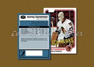 Murray Bannerman - Chicago Blackhawks - Custom Hockey Card  - 1980-81