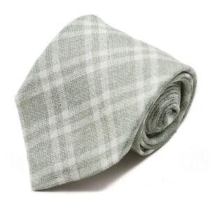 New $230 ISAIA NAPOLI Layered Plaid Check Print Extrafine Linen Tie