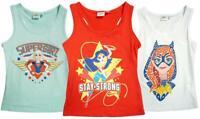 Girls DC Superhero Girls Supergirl Summer Racer Back Vest Top 4 to 10 Years
