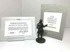 1974 Franklin Mint 'Pewter Figurines - The Schoolmaster - People of Colonial'