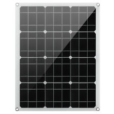 50W 60W Solar Panel Battery Charger Dual USB Port 30/40/50A Controller Car RV