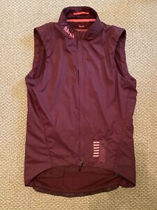 Rapha Pro Team Insulated Gilet Vest Mens Size Large Burgundy cycling