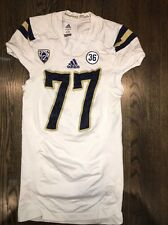Game Worn UCLA Bruins Football Jersey Used adidas #77 Size XL