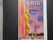 TWA Airlines Travel Poster Paris    American Express Travel Office