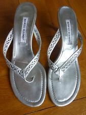 Manolo Blahnik Damen Sandalen Zehentrenner selten in Gr.42 nur 2 x getragen !