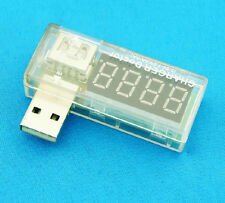 White USB Charger Doctor Voltage Current Meter Mobile Detect Battery Power uk201