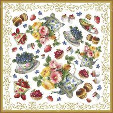 Serviette en papier de riz DFT219 Pâtisserie Thé Rice Paper Napkin Cupcakes