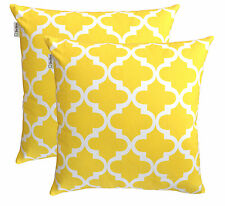 TreeWool, (2 Pack) Trellis Accent Cotton Decorative Cushion Covers / Pillowcases
