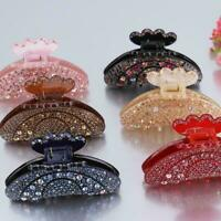Women Elegant Rhinestone Large Hair Claw Fully-jewelled Fast Pin Clip Jaw T0D9